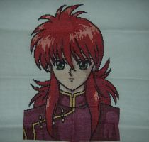 kurama - cross stitch by kurisuchine