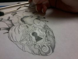 Drawing Anatomical Heart Lckt by MissAngelinaR