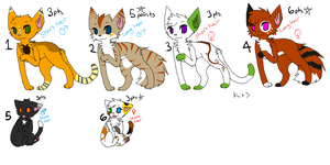 Cat Adoptables OPEN by dingo359
