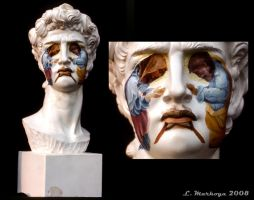 Bust of David Masquerading by LMarkoya