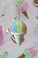Snow Cone Necklace by lessthan3chrissy