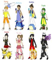 Atla pokemon trainers by Flamula