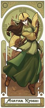 Avatar Kyoshi - Art Nouveau Avatars by swadeart