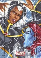 Storm vs. Mystique, MHV by Dangerous-Beauty778
