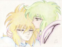 Saint Seiya - Hyoga and Shun 1 by Edhel44
