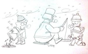 Ice Fishing,but..... by komi114