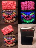Brainius Maximus Zippo by Undead Ed by Undead-Art