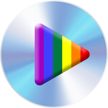 rainbow play button by poleev