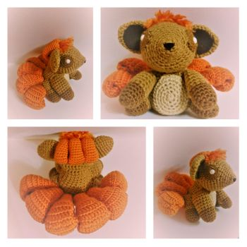 (Not so little) Crochet Amigurumi Vulpix! by jenny3793