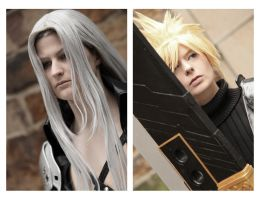 Sephiroth and Cloud by SerinuCeli