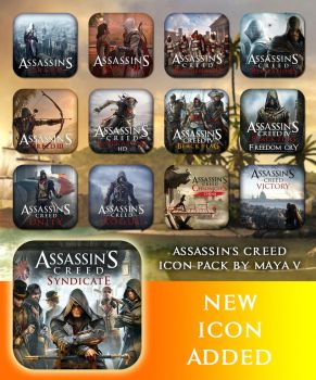 Assassin's Creed Icon Pack by maya-v