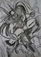 Thor - pencil sketch by DustyPaintbrush