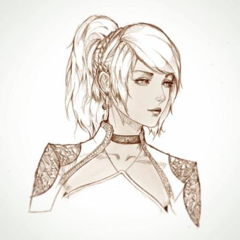 Lunafreya Sketch by raikoart