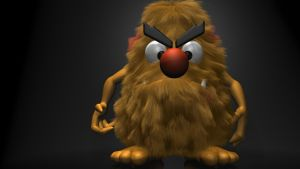 Hairy Monster 3D by 3DSud