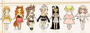 Wishes Adoptables - Closed! by NorthernFeathers