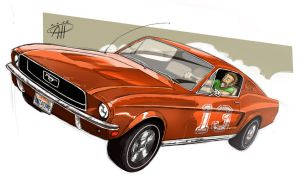 Cannonball Run - 1968 Ford Mustang Fastback by deralbi