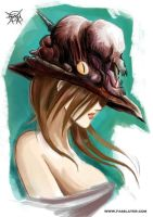 monster hat witch by FASSLAYER