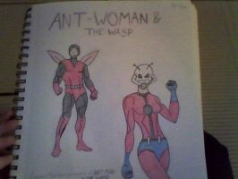 Ant-Woman and The Wasp by burtonmanrocks19