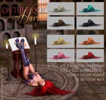 on the floor HAIR STOCK by Trisste-stocks