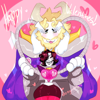 Mettasgore Valentines thingy by dongoverlord
