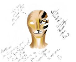 Rum Tum Tugger Make Up Diagram by LoveLydetective