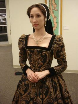 1560s Gown, Close-up by Lady-Lovelace