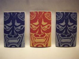 Oni Mask Printed Journal by CadmiumCrab