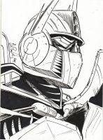 Optimus Prime Sketch by KileyBeecher