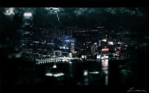 Sleeping City Storm by Monk7Mad