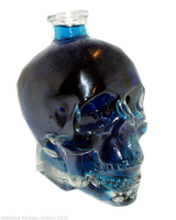 Glass Skull 2 - Blue by Fire-Fuel