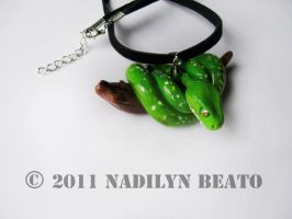 GreenTree Python Necklace by NadilynBeato