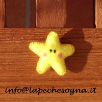 star felt pin by lapechesogna