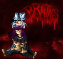 Slayers TRY Fanart: BRAINS by batosai