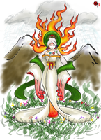 Amaterasu...colored by SirLadySketch