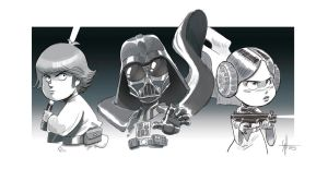 Star wars trio by scoppetta