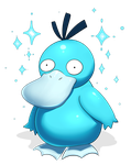 caught a shiny psyduck while the internet was out by elPatrixF