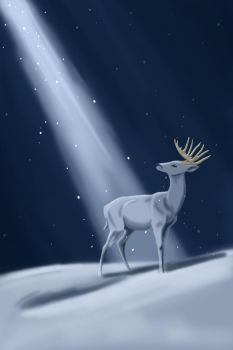 Amid the Falling Snow by SargassosArt