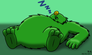 Sleeping Greenie by BluebottleFlyer
