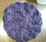 Purple Lotus Lace Slouchy Hat by Branxnia