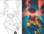 Xmen First Clas: Cyclops by NickSchley