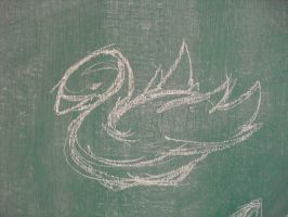 Chalk swan by Commy-Lover