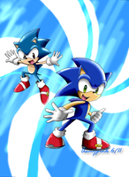 Classic and Modern Hedgehogs by Aamypink