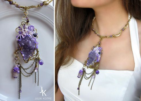 Necklace In the cave of the mountain king by JuliaKotreJewelry