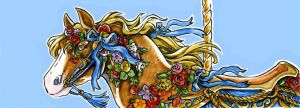 Carousel Bookmark:Flower Pony by Hbruton