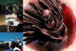 Painting Batman at Fest Comix by felipemassafera