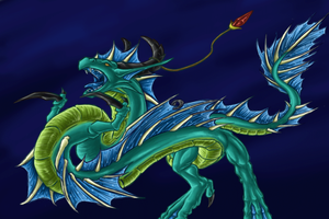 Seadragon thing coloured by Draconigenae666