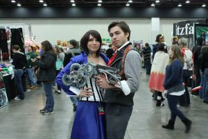 BioShock Infinite Booker and Elizabeth Cosplay by aakahasha