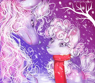 Shiny Vulpix and Ninetails by EverlastingDerp