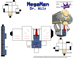 Cubeecraft of Dr. Wily from MegaMan PT2 by SKGaleana