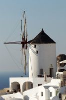Santorini windmill 1 by wildplaces